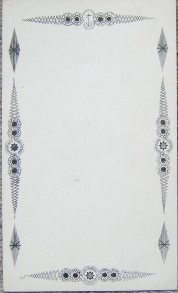 Edward Bawden Orient Line menu card