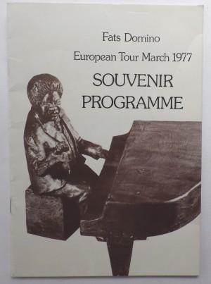 Fats Domino European Tour programme