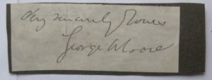 George Moore autograph