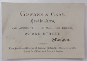 Gowans & Gray business card