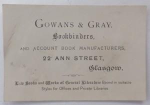 Gowans & Gray business card