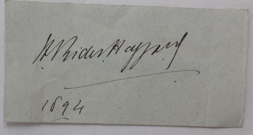 H. Rider Haggard autograph