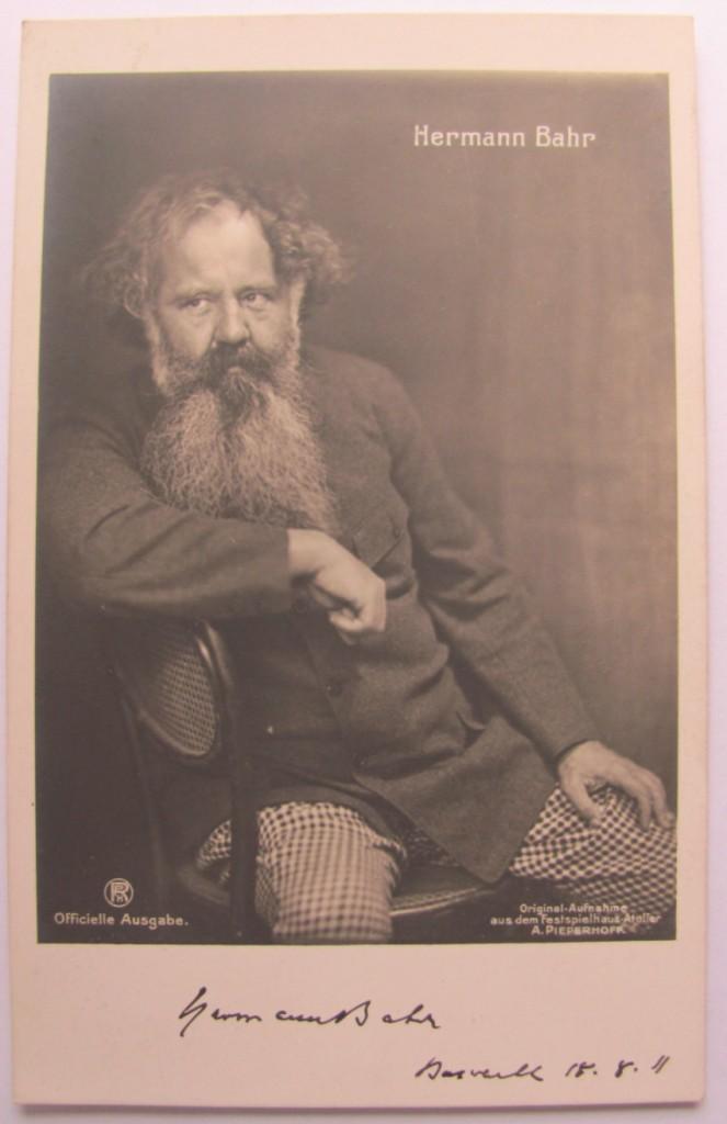 Hermann Bahr signed photograph