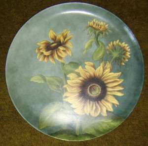 Howell & James Ltd Sunflowers plate