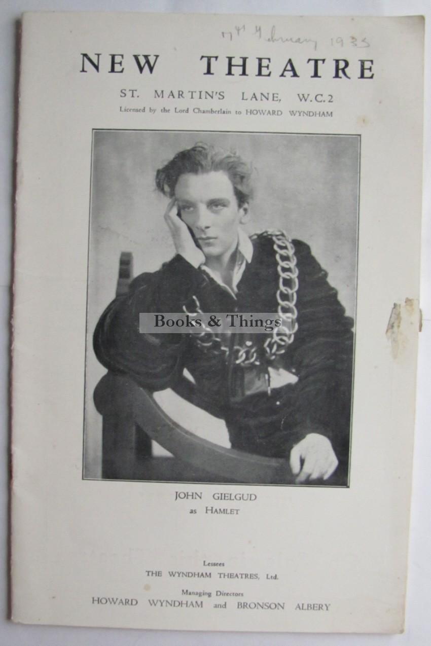 John Gielgud Hamlet programme
