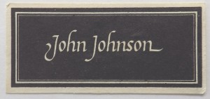 John Johnson book label