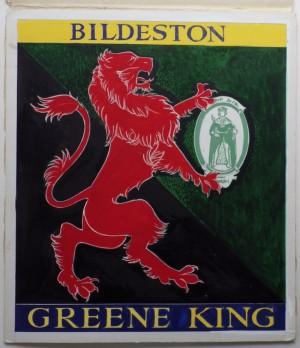 Leon Crossley Bildeston inn sign artwork
