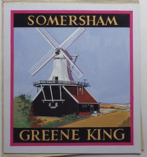 Leon Crossley Somersham inn sign artwork