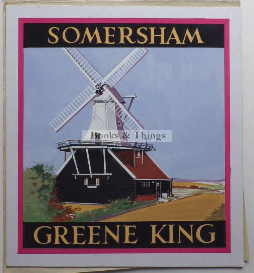 Leon Crossley Somersham inn sign artwork