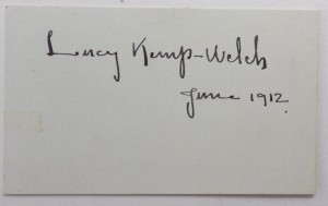 Lucy Kemp-Welch autograph