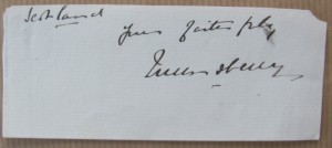 Marquess of Queensberry autograph