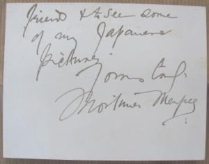 Mortimer Mempes autograph card
