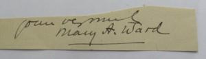 Mrs Humphrey Ward autograph