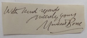 Muirhead Bone autograph