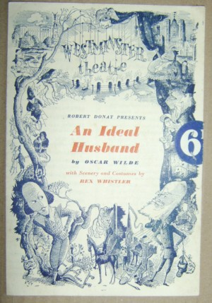 Oscar Wilde An Ideal Husband programme