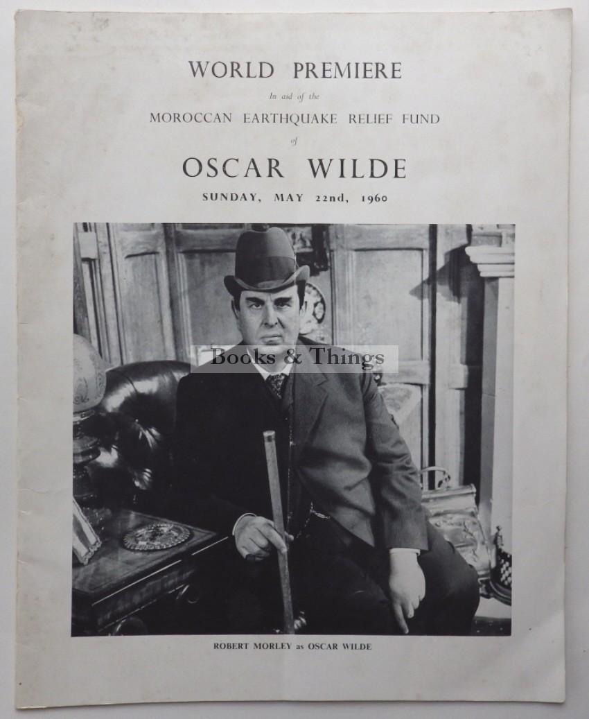 Oscar Wilde film premiere programme