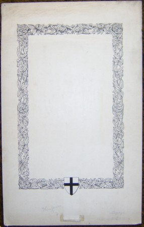 Reginald Knowles drawing border design