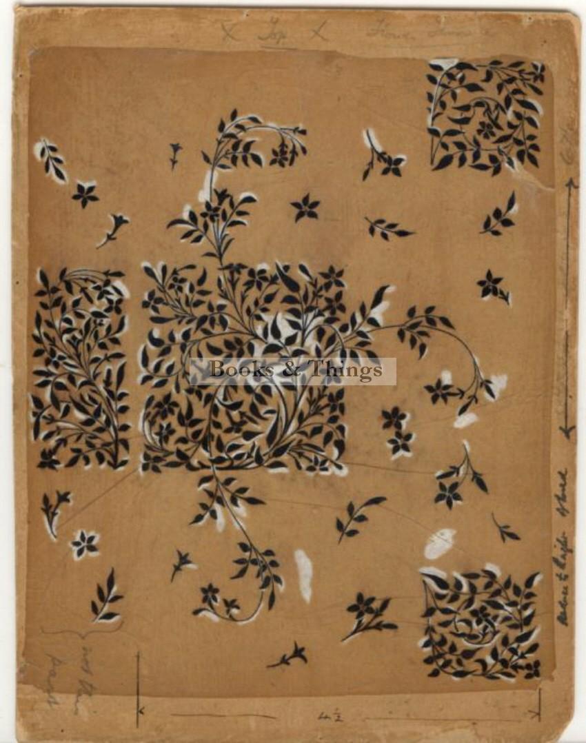 Reginald Knowles drawing endpaper design