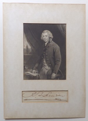 Richard Brinsley Sheridan autograph