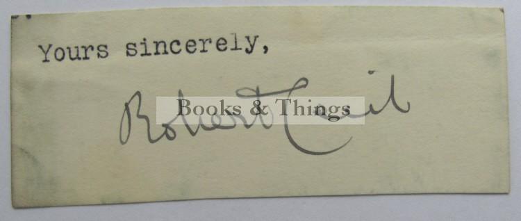 Robert Cecil autograph