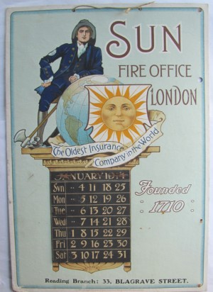 Sun Fire Office calendar