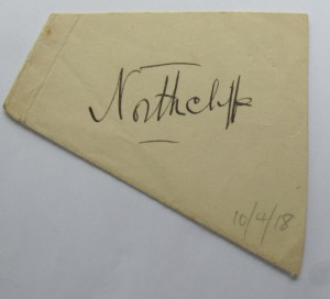 Viscount Northcliffe autograph