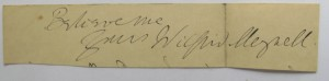 Wilfrid Meynell autograph