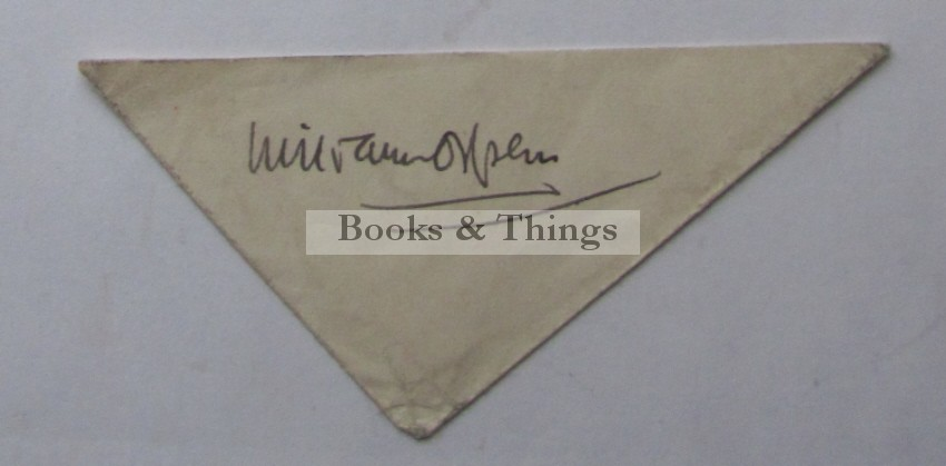William Orpen autograph
