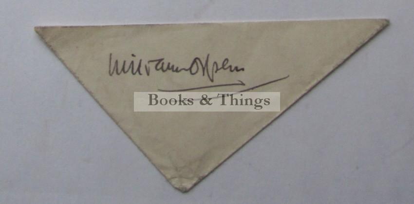 William Orpen autograph