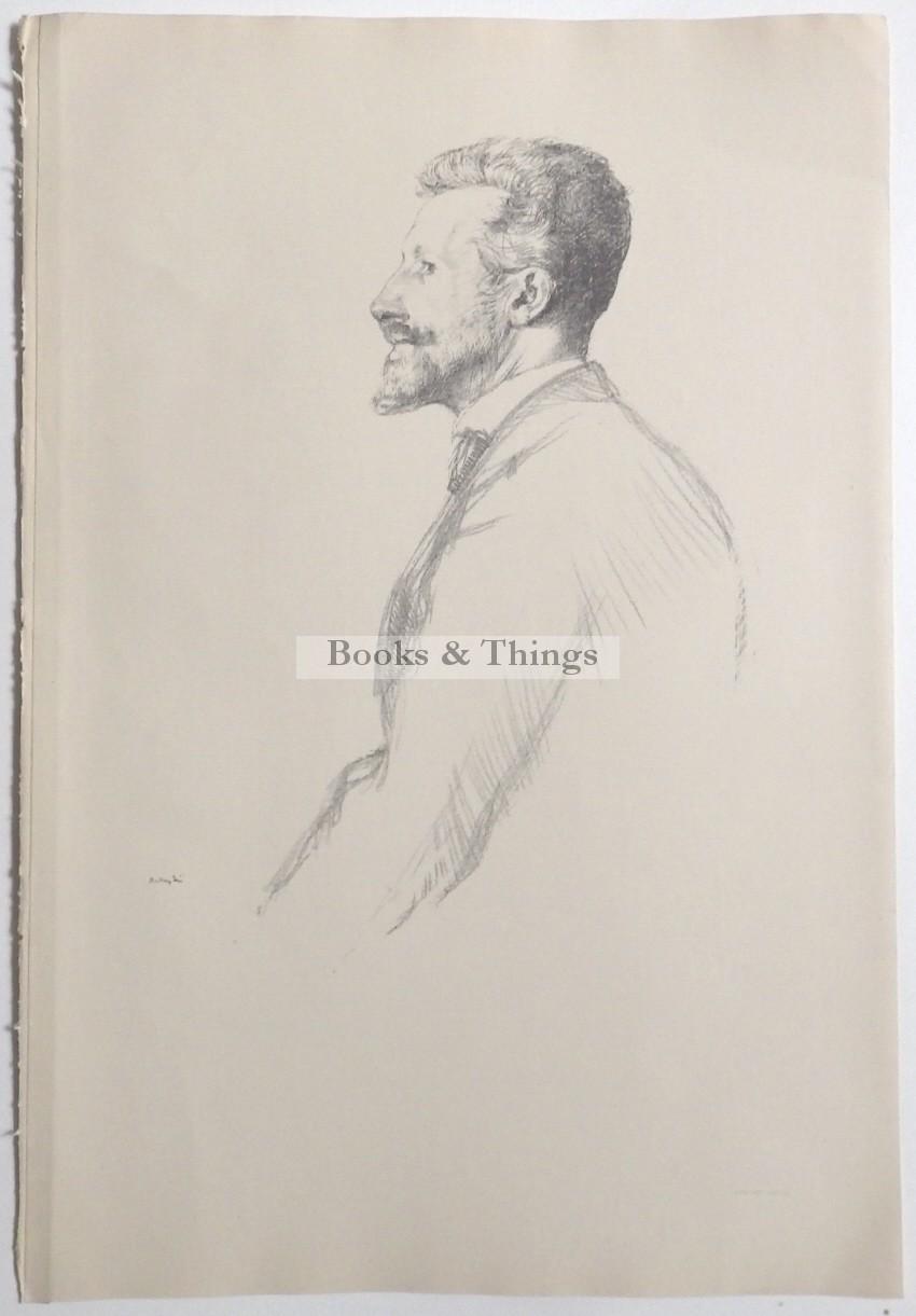 William Rothenstein lithograph R.B. Cunninghame  Graham