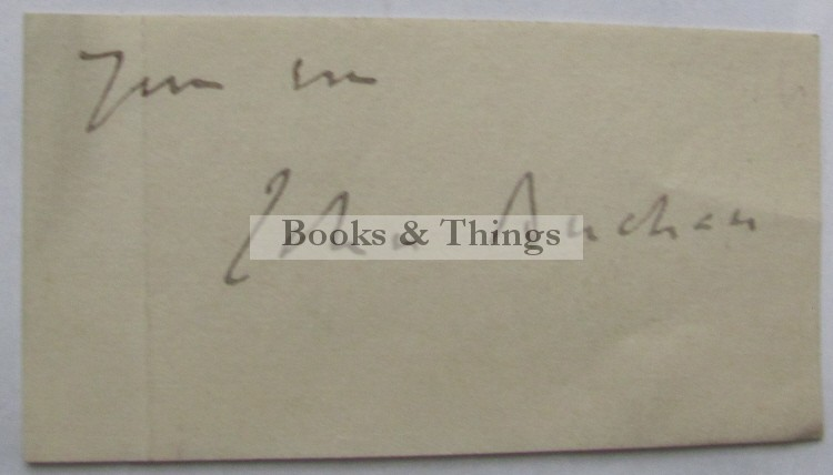 John Buchan autograph