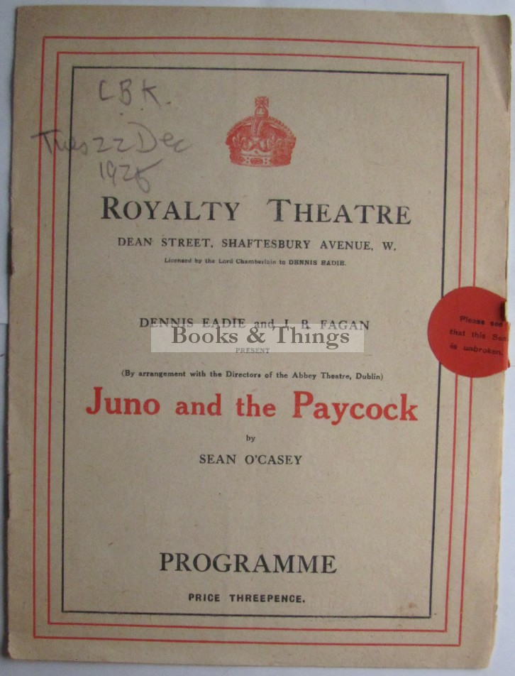 Juno and the Paycock programme