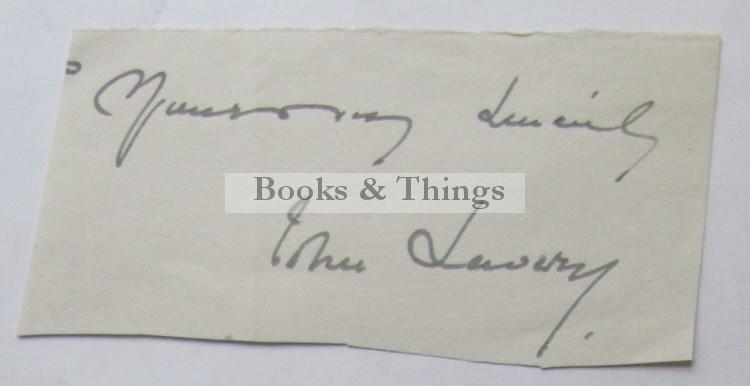 John Lavery autograph
