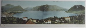 Lugano panoramic postcard