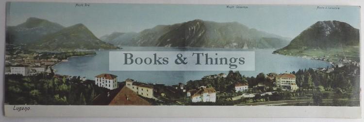 Lugano panoramic postcard