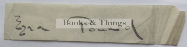 Ezra Pound autograph