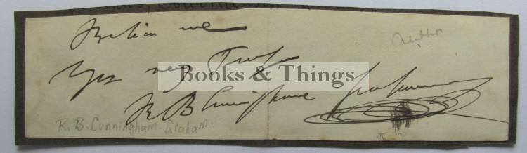 R B Cunningham Graham autograph