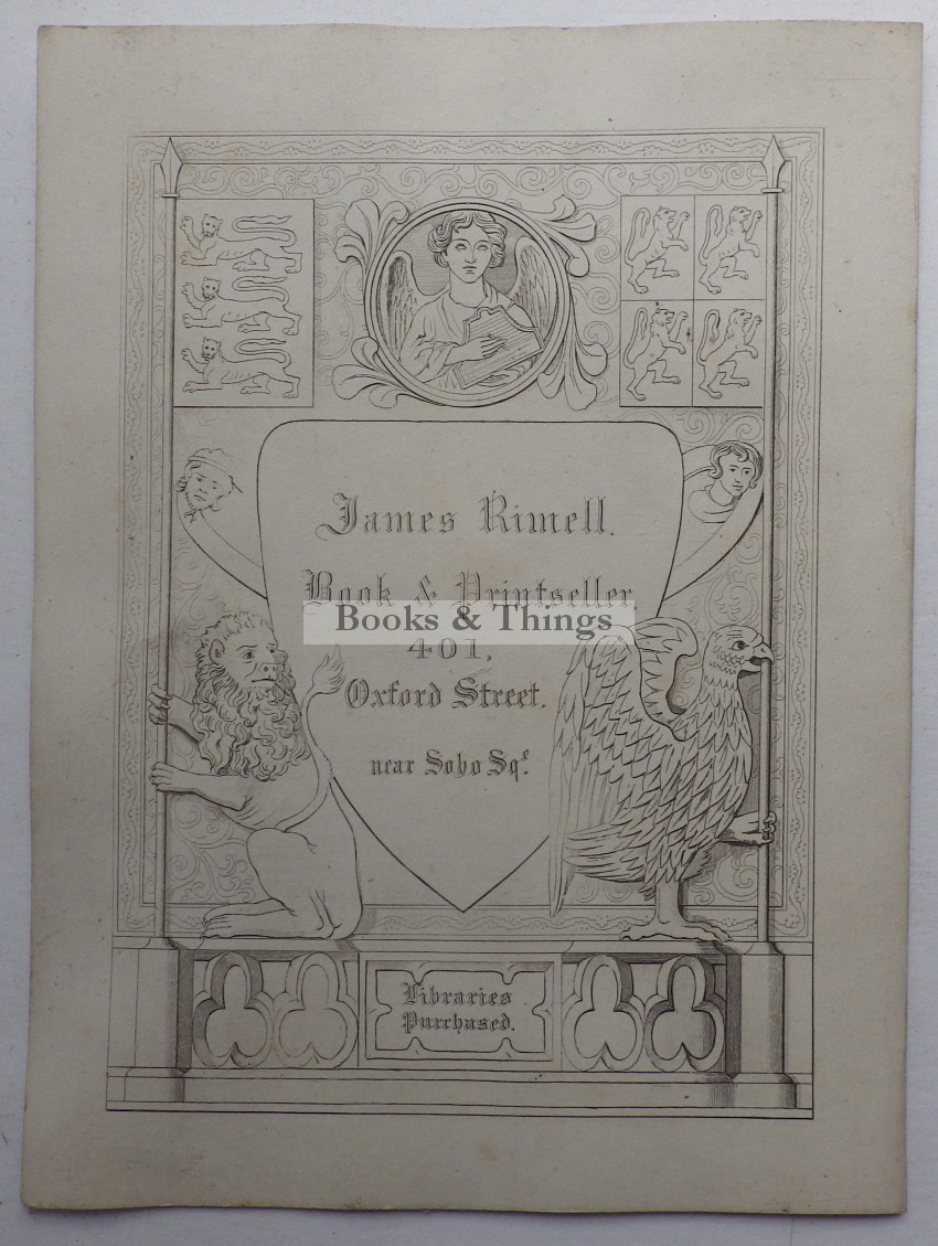 James Rimmell bookseller business card