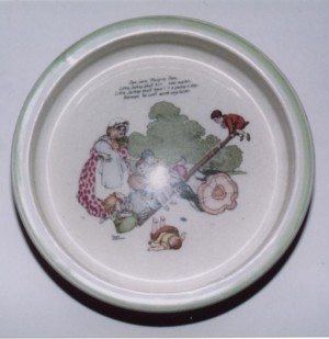W Heath Robinson child's plate