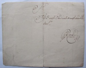 Sir George Rooke autograph