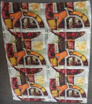 David Whitehead fabric pair of curtains