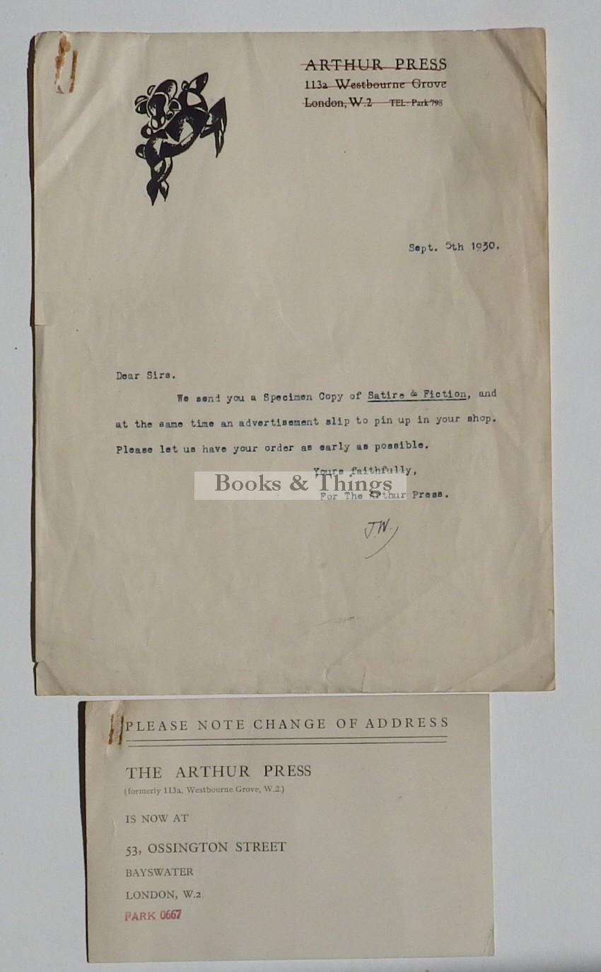 Arthur Press letter