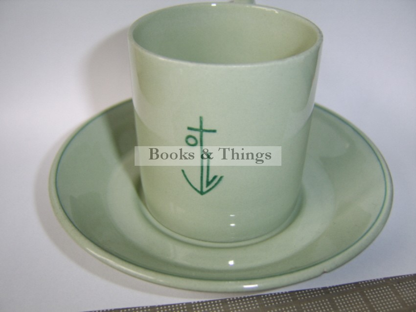 E. McKnight Kauffer cup & saucer for Orient Line