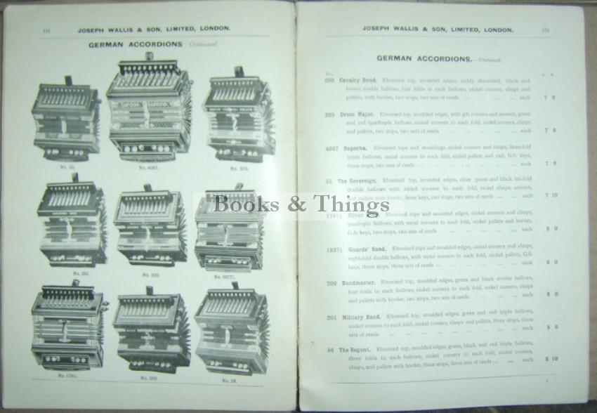Joseph Wallis musical instruments catalogue