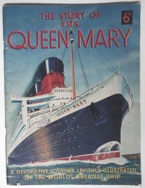 Queen Mary liner booklet