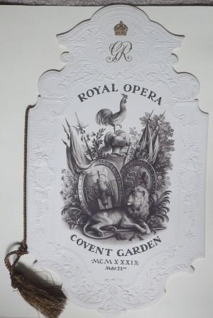 Rex Whistler Royal Opera programme