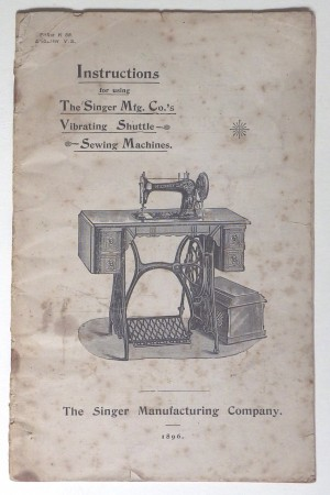 Singer Sewing Machine instruction booklet