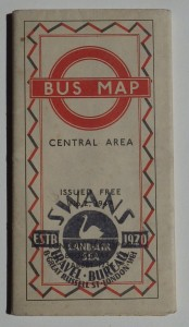 London Transport Bus map 1947
