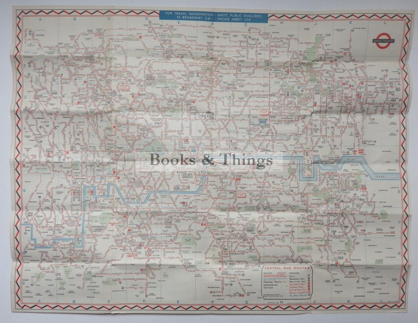 London Transport Bus map 1947