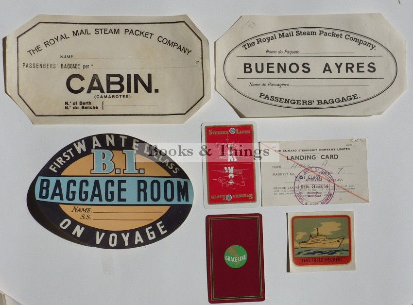 Cabin Labels Royal Mail Steam Packet Co
